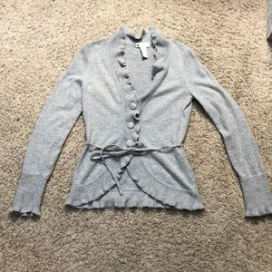 Heather grey button up cardigan